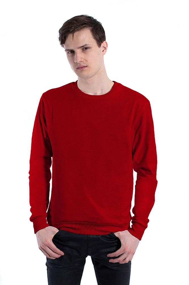 Бордовый свитшот